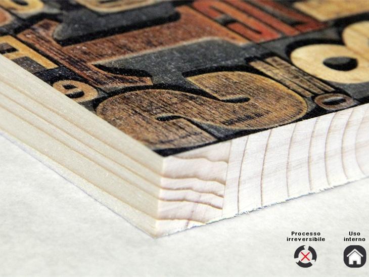 Prodotto | Stampa diretta su legno con tecnologia Uv