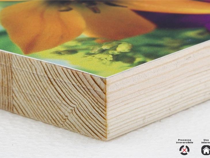 Prodotto | Accoppiamento carta fotografica/cotone su legno